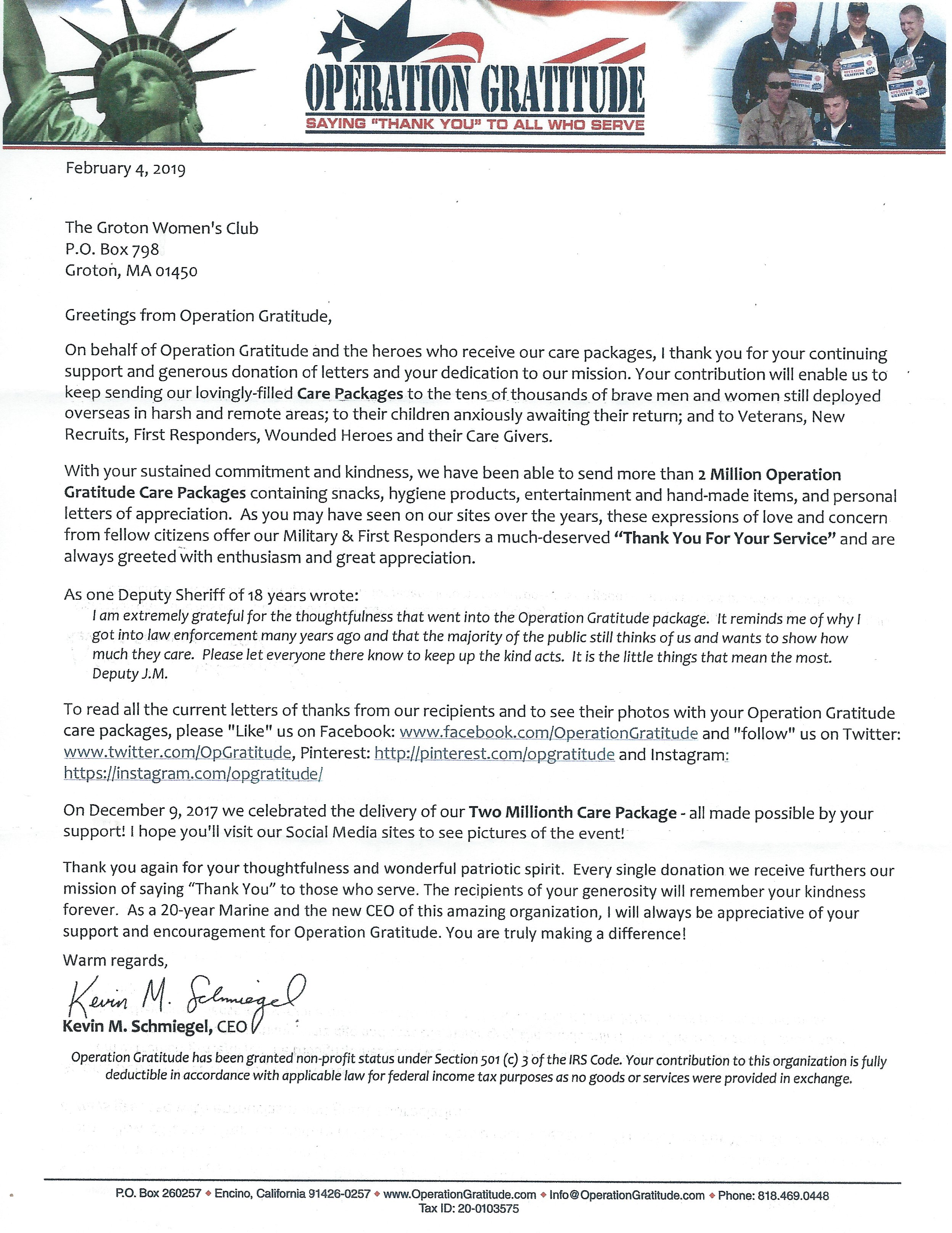 Thank You Letter To Ceo from grotonwomansclub.com